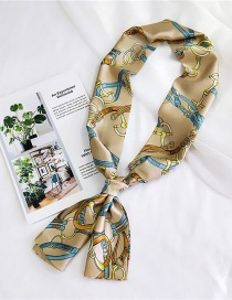 Fashion Beige Chains Pattern Decorated Simple Scarf