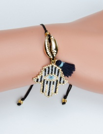 Fashion Black Hand Shape Decorated Bracelet