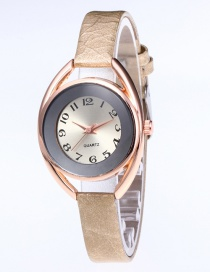 Fashion Gray Round Shape Dial Design Leisure Watch