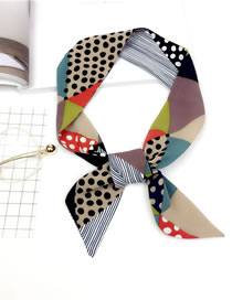 Fashion Multi-color Dots Pattern Decorated Scarf