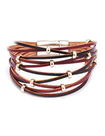 Fashion Brown Multi-layer Design Bracelet