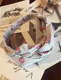 Fashion Gray Apple Pattern Decorated Hair Hoop