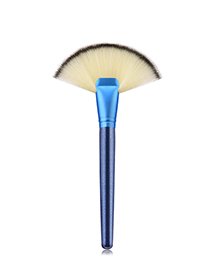 Fashion Blue Sector Shape Decorated Makeup Brush