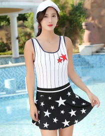 Fashion Black Star Pattern Decorated Swimwear