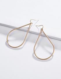 Fashion Gold Hollow Large Drop Pendant Earrings