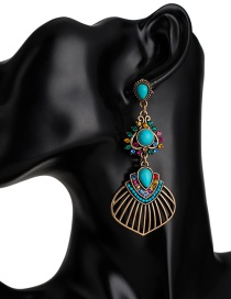 Fashion Blue 4 Turquoise Multi-color Geometric Earrings
