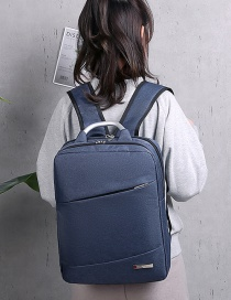 Fashion Navy Blue Shoulder Computer Bag