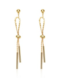 Fashion Gold Alloy Bow Tassel Earrings
