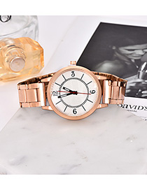 Fashion Gold Alloy Strap Adjustable Electronic Watch