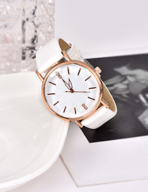 Fashion White Pu Alloy Electronic Watch