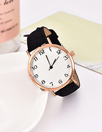 Fashion Black Pu Alloy Electronic Watch