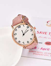 Fashion Leather Pink Pu Alloy Electronic Watch
