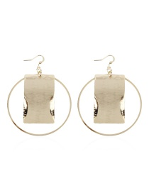 Fashion Gold Alloy Geometric Earrings