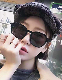 Fashion Black Resin Sunglasses