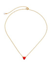 Fashion Red Pearl Heart-shaped Diamond Necklace