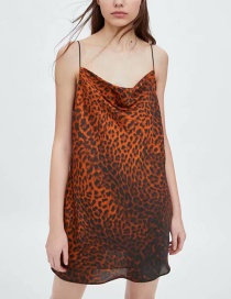 Fashion Leopard Animal Print Short Dress
