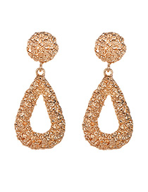 Fashion Gold Alloy Small Water Droplets Hollowed Ear Studs
