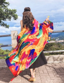 Fashion Multi-color Printed Cotton Shawl