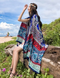 Fashion Multi-color Cotton And Linen Shawl