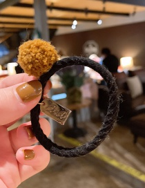 Fashion Brown Hair Ball Hair Ring