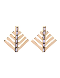 Fashion Gold Geometric Earrings