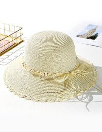 Fashion Creamy-white Wearing A Sun Hat