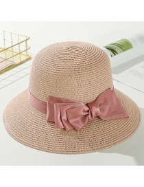 Fashion Pink Big Bow Tie Hat