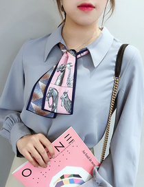 Fashion Pony Pink Houndstooth Multifunctional Small Scarf