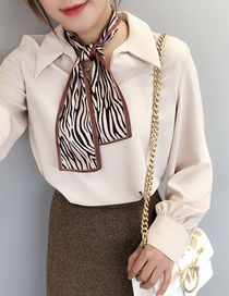 Fashion Zebra Brick Red Animal Print Small Scarf