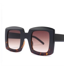 Fashion Black Leopard On Tea C3 Square Sunglasses