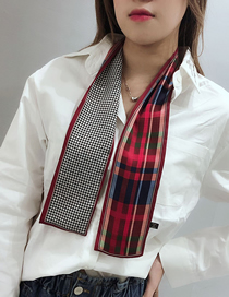 Fashion Wine Red Long Strip Of Thin Solid Scarves