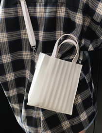 Fashion White Crossbody Jelly Stripe Shoulder Bag