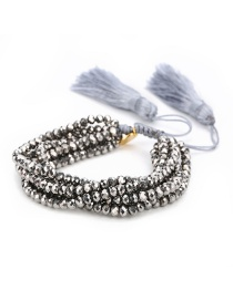 Fashion Gray Devil's Eye Set Bracelet