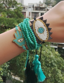 Fashion Blue Suit Braided Bracelet Eyes