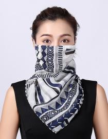Fashion Black Chiffon Mask Scarf
