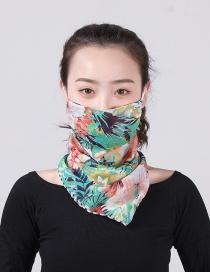 Fashion Color Chiffon Mask Scarf