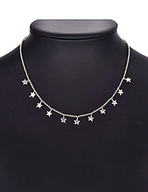 Fashion Pentagram Alloy Silver Necklace
