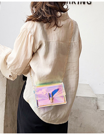 Fashion Pink Laser Shoulder Slung Chain Bag