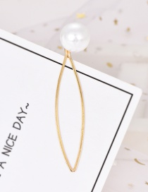 Fashion Gold Alloy Pearl Hairpin