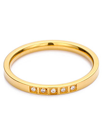 Fashion Gold Stainless Steel Ring