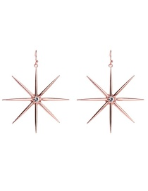 Fashion Pink Gold Alloy Plating Star Stud Earrings