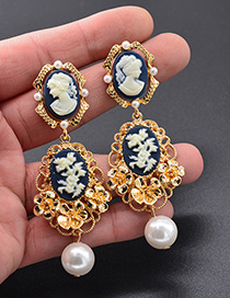 Fashion Gold Beauty Avatar Earrings