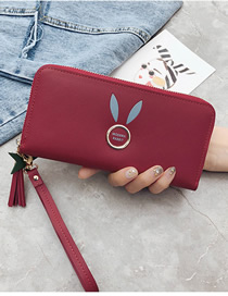Fashion Red Fringed Rabbit Ears Purse
