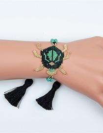 Fashion D Beetle Tassel Beads Woven Bracelet