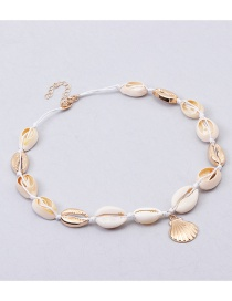 Fashion White Shell Adjustable Necklace