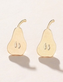 Fashion Gold Alloy Pear Earrings