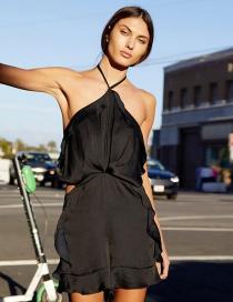 Fashion Black Halter Strapless Halter Shorts
