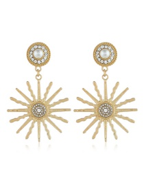 Fashion Gold Alloy Earrings