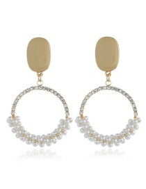 Fashion Gold Diamond Earrings With Diamonds