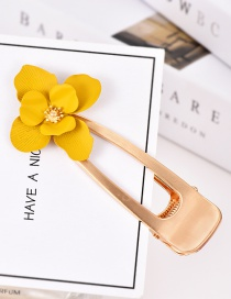 Fashion Yellow Alloy Flower Hair Clip
